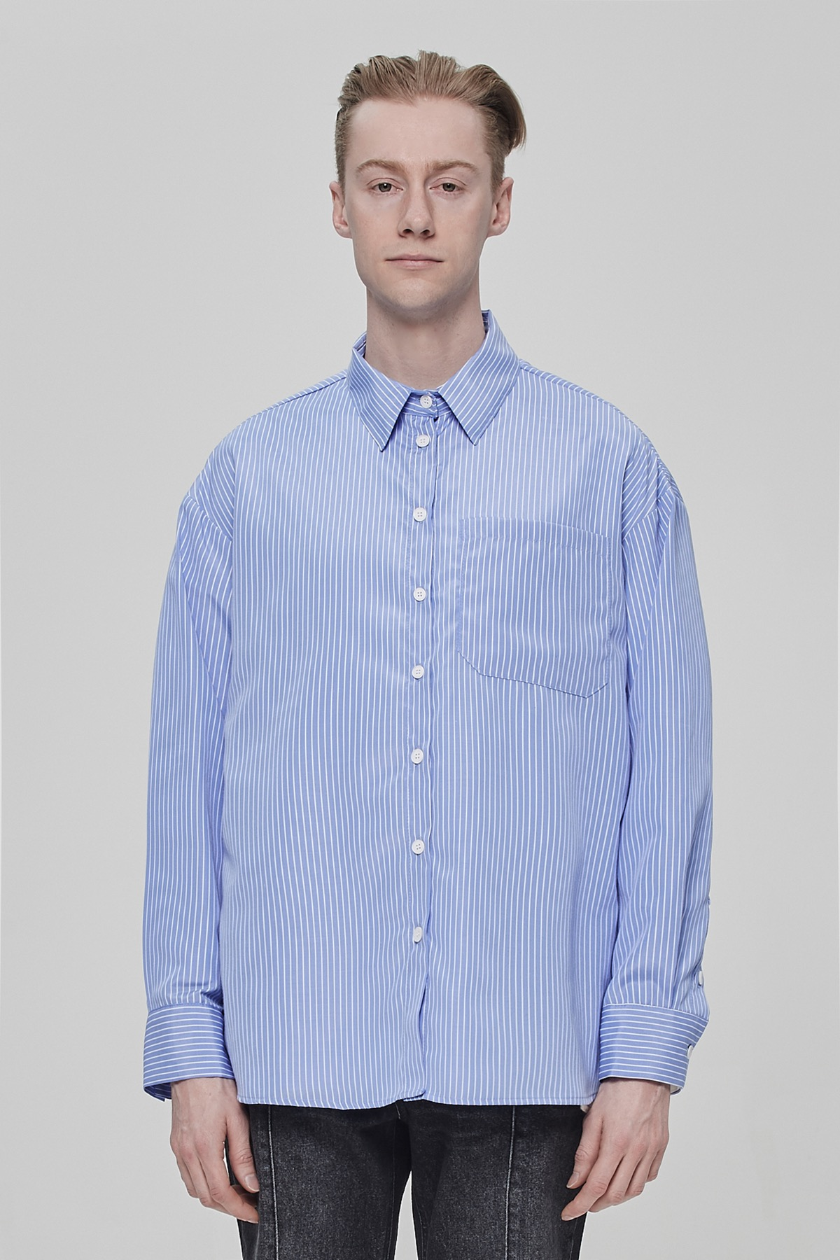 BLUE STRIPE OVERSIZE SHIRTS